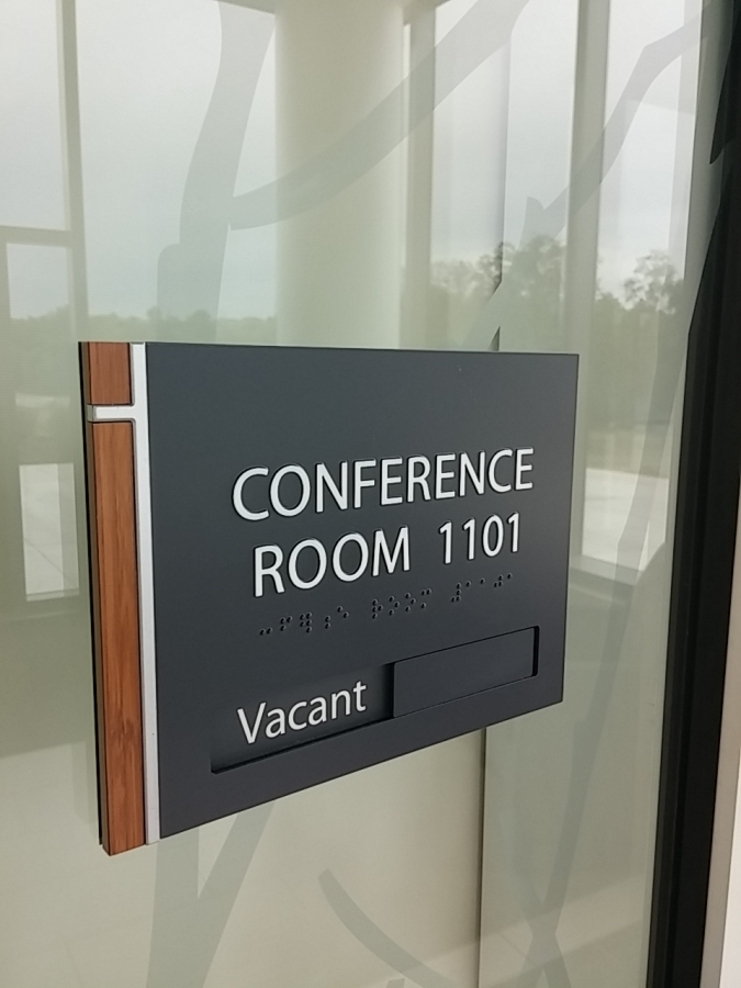 Indoor ADA compliant office signs