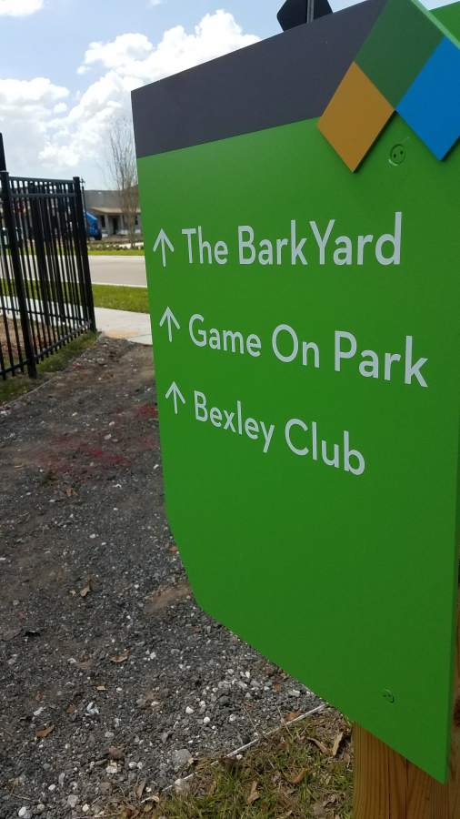 Bexley Park Signs and Map