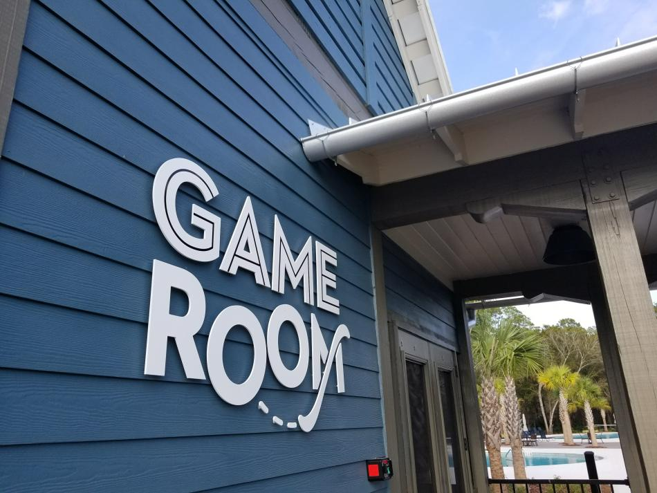 Bexley Game Room Signage