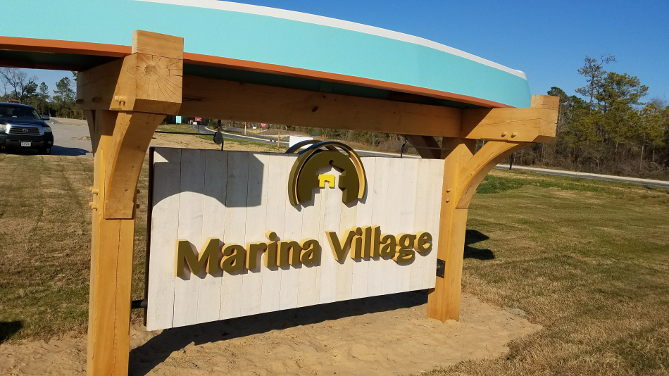 Marina-Village-Wooden-Painted-Sign