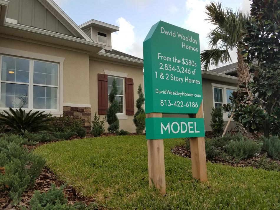 Bexley Model Home Sign