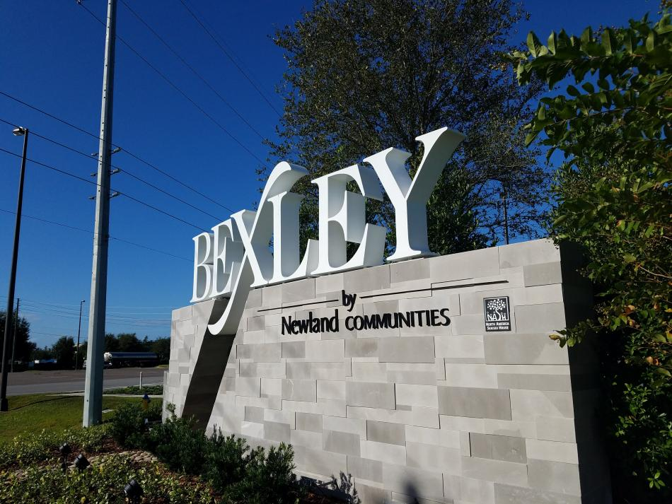 Bexley Community Dual View Entrance Sign