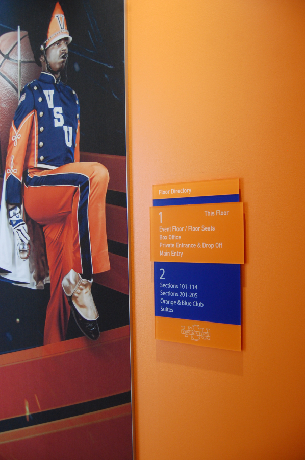 Virginia State University Color Signs and Display