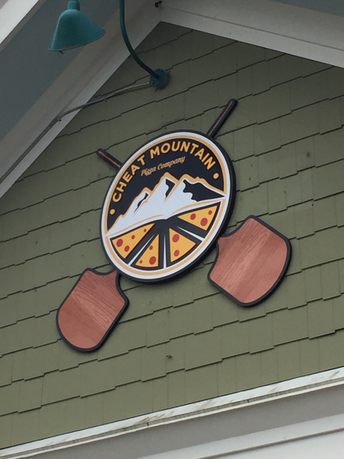 Snowshoe outdoor building sign