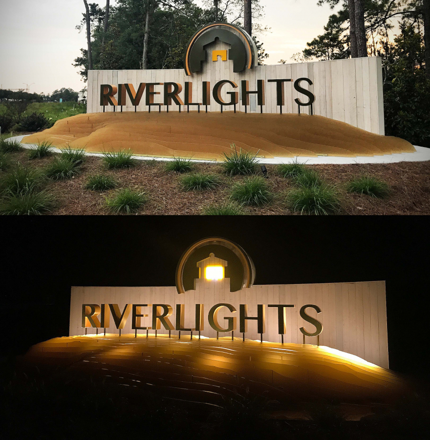 Riverlights Exterior Neighborhood Entrance Sign
