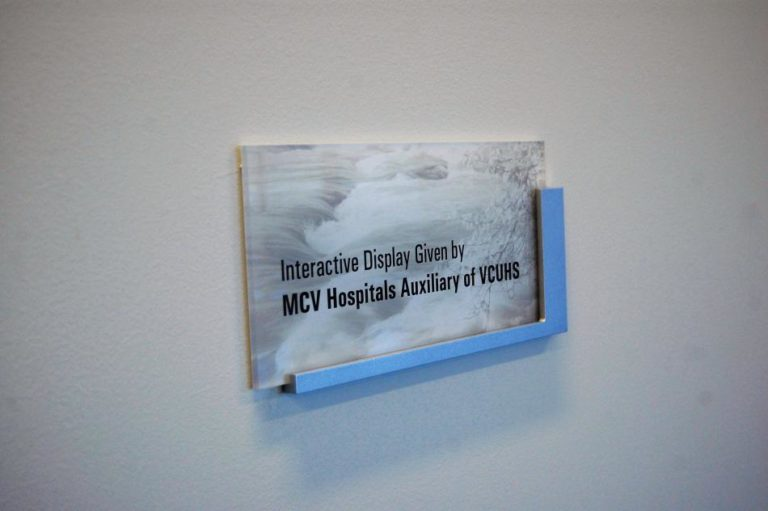 VCU Healthcare office nameplate