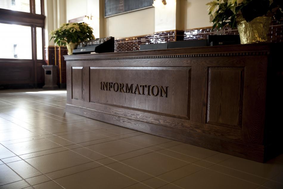 Metal-Three-Dimensional-Letters-Information-Desk-in-Richmond-VA