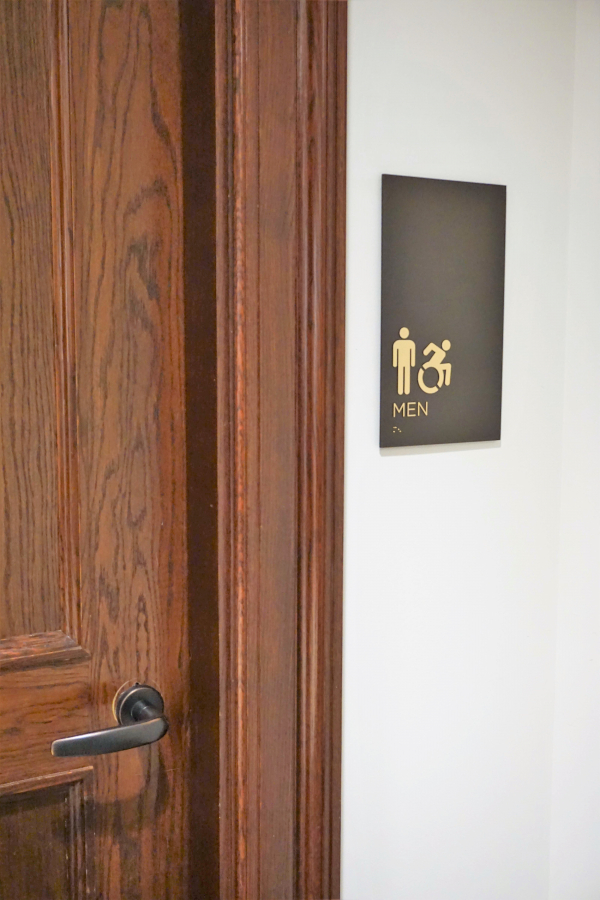 New York Stock Exchange Restroom Signage