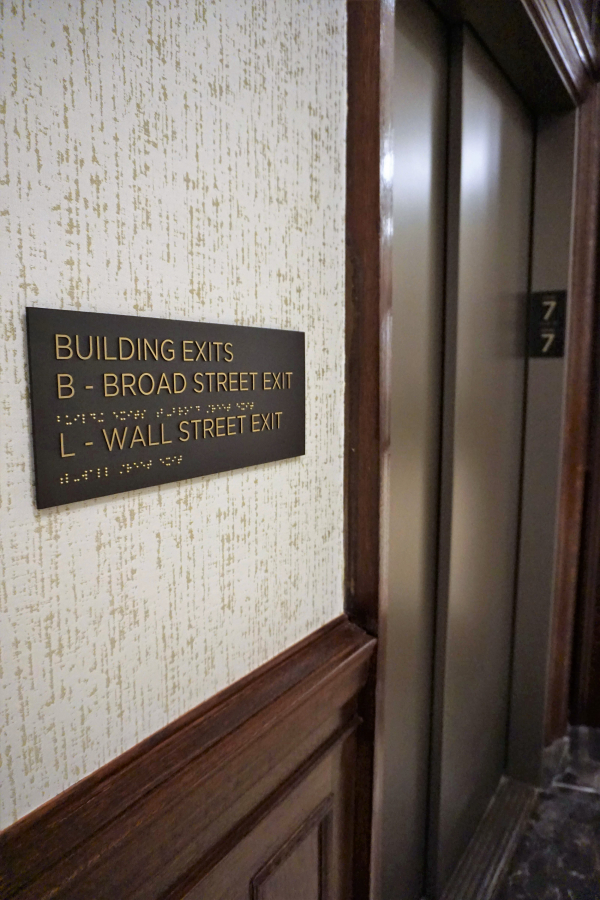 New York Stock Exchange Evacuation Exit Signs