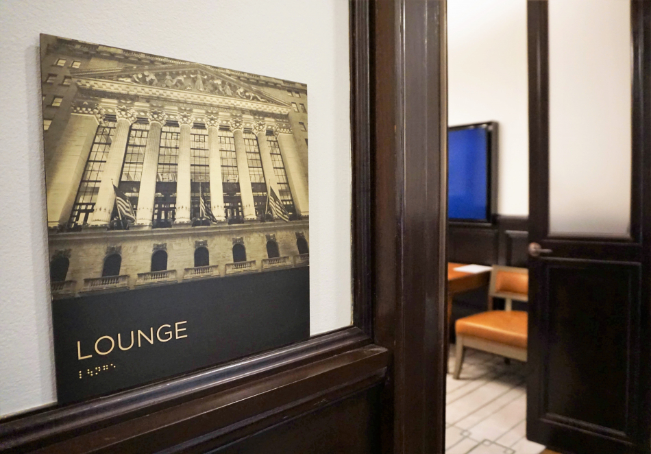 New York Stock Exchange Picture Sign