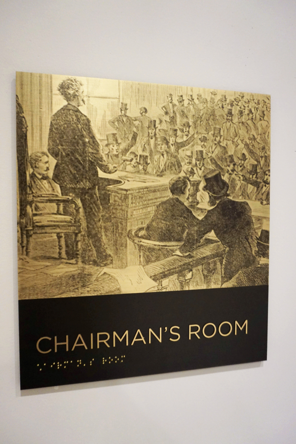 New York Stock Exchange Chairman's Room Sign