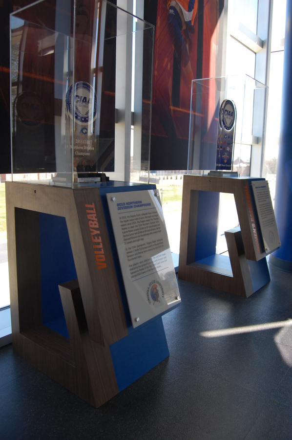 Virginia State University Plexiglass Display Cases