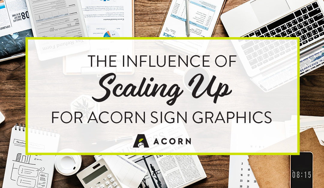 The Influence of Scaling Up for Acorn Sign Graphics