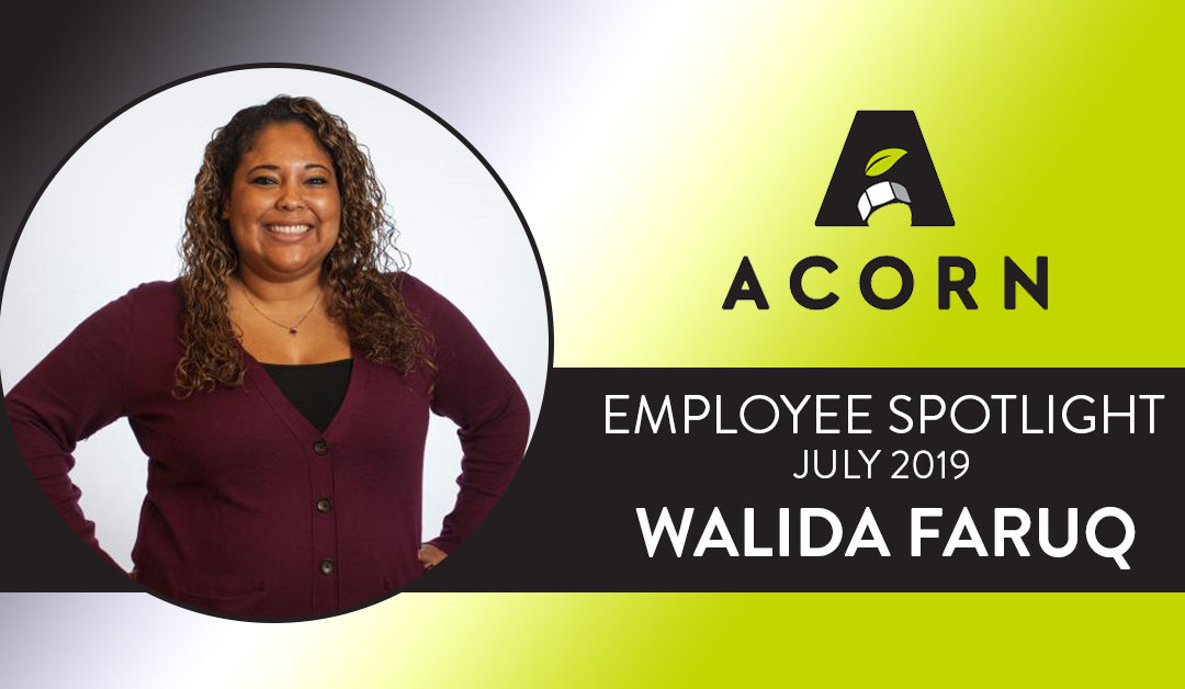 Employee Spotlight July 2019 – Walida Faruq