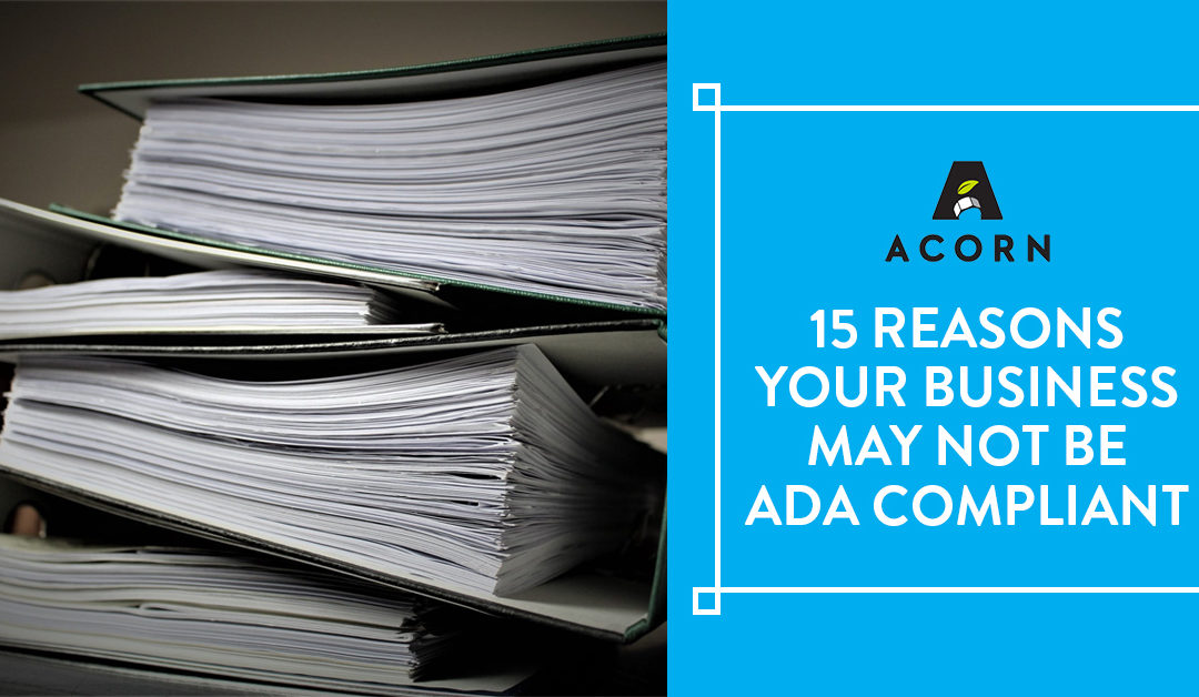 15 Reasons Your Business May Not Be ADA Compliant
