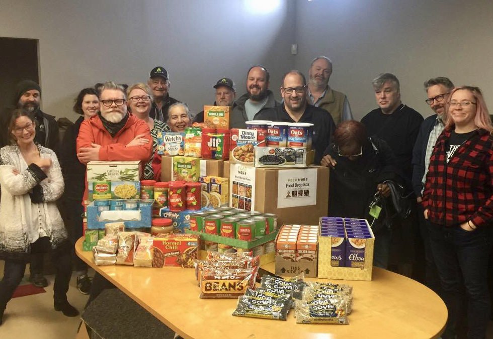 Acorn collects 220 pounds of food for Feed More!