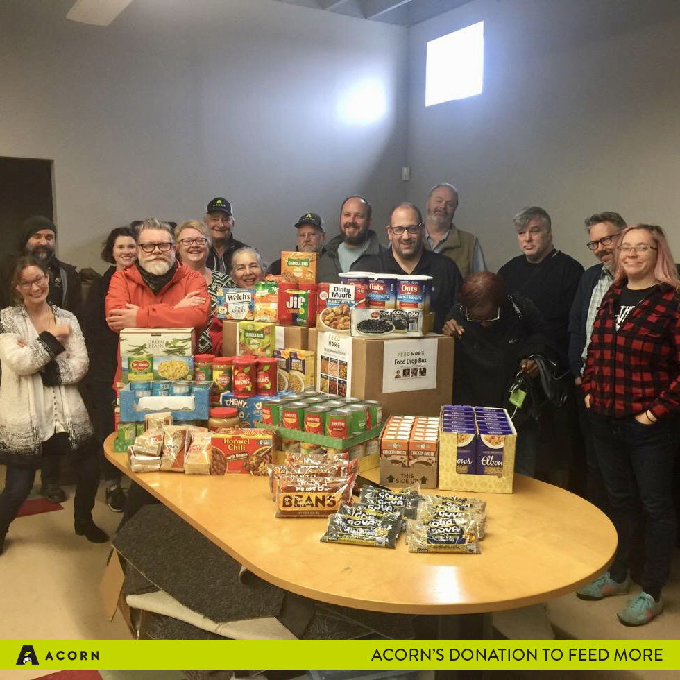 Acorn Collects 220 Ponds of food for Feed More