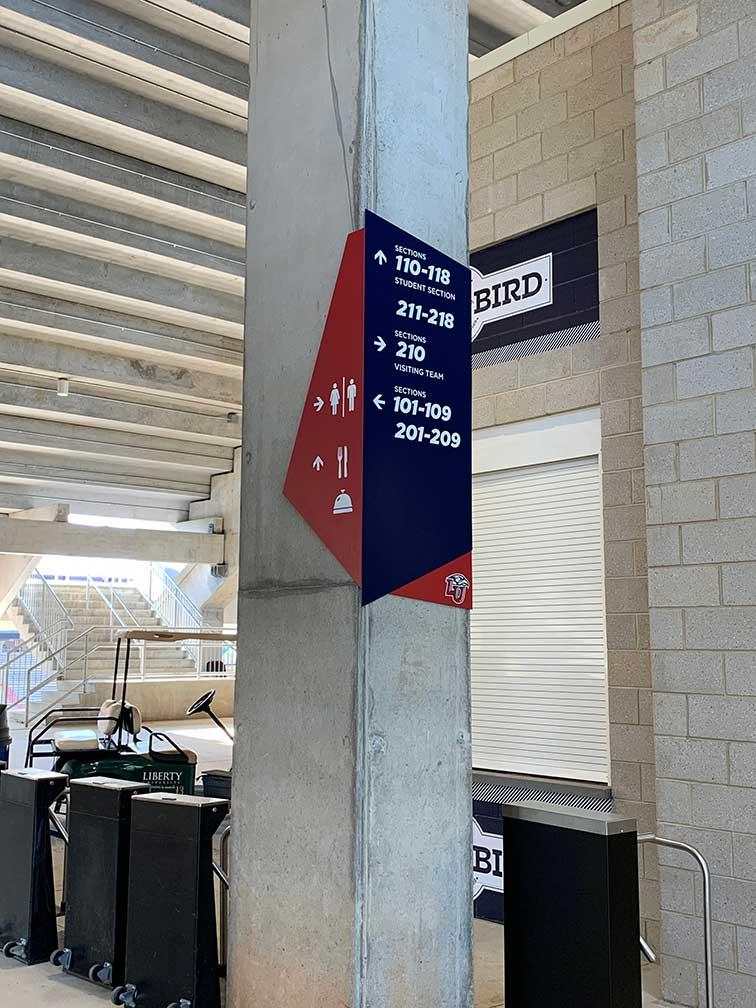 Liberty-University-directional-signage