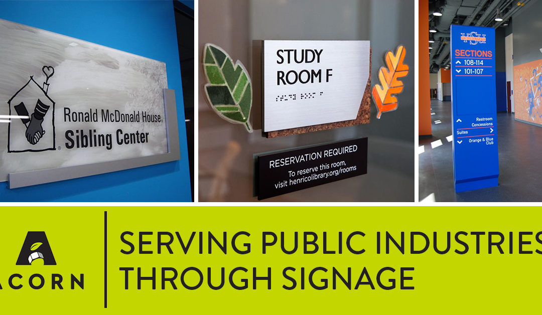 Serving Public Service Industries Through Signage