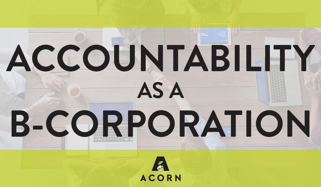 Accountability as a B-Corporation