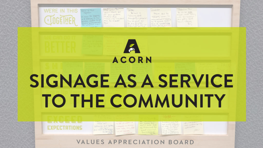 Signage as a Service in the Community